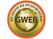 Test d'Intrusion | GIAC Certified Web Application Defender | GWEB