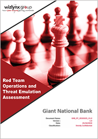 wizlynx group Red Team Operations and Threat Emulation Services Report